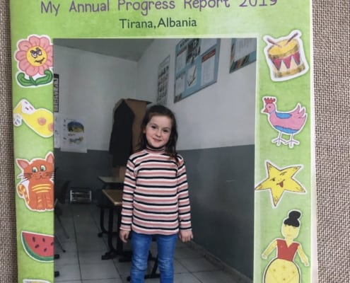 Kejda in Albania is seven now and sent us and Munns a package today. Awesome.