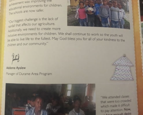Degemegn in Ethiopia sent us and DavisBros AC a gift and update. Cool!