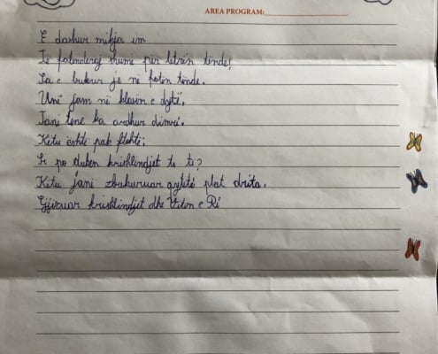 Kejda in Albania wrote us a letter.
